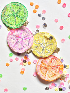 Summer Fruit Hair Clip | Glitter Hair Clip