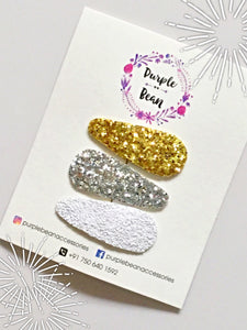 All That Glitters | Glitter Snap Clip Set of 3