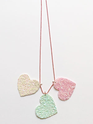 Queen of Hearts | Glitter Necklace