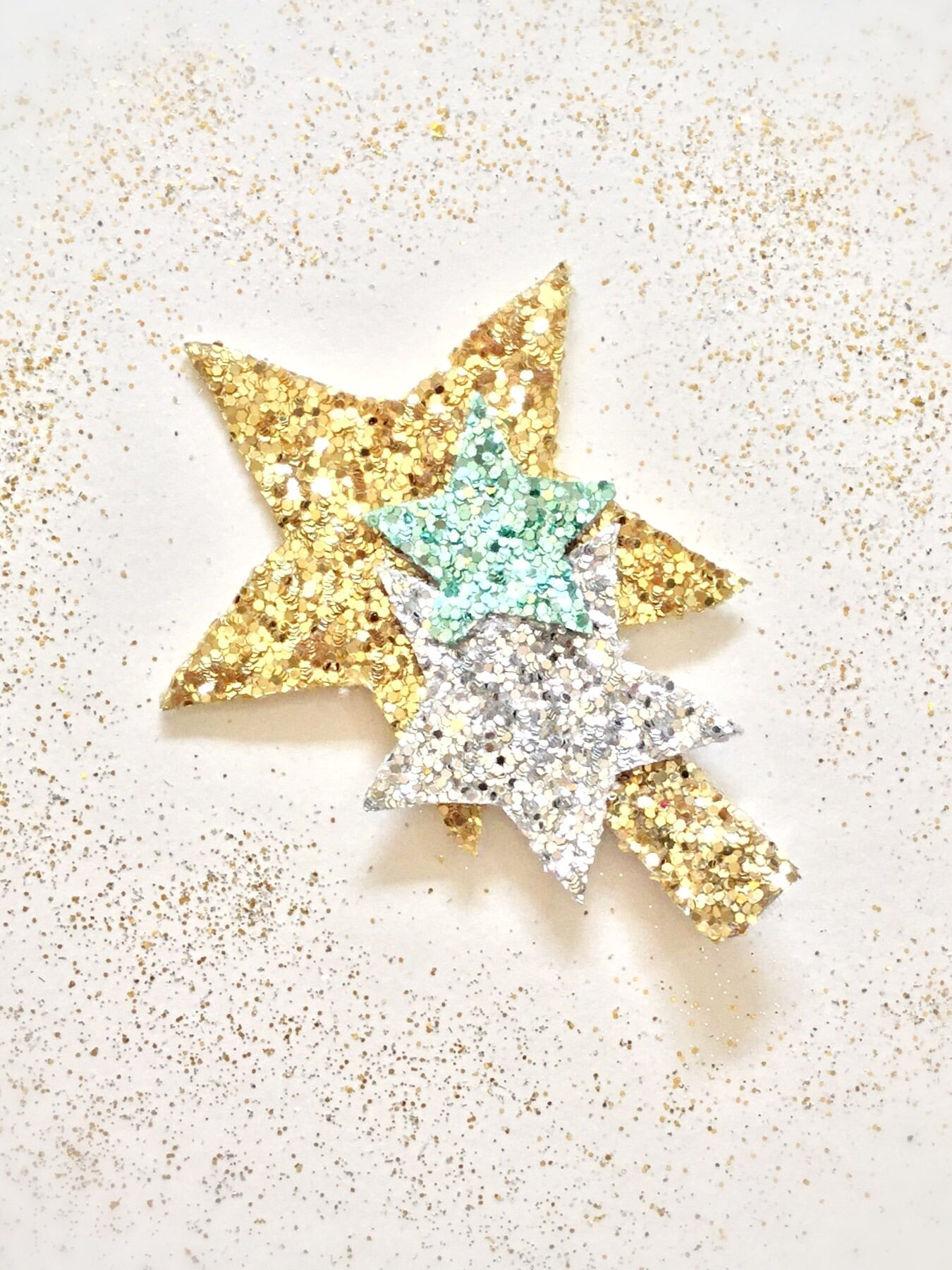 Starry Night | Glitter Hair Clip