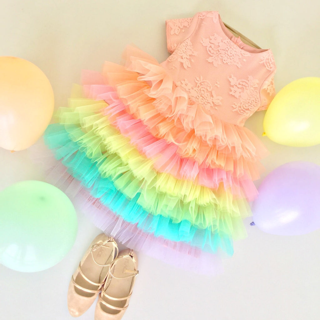 Rainbow Swirls | Dress
