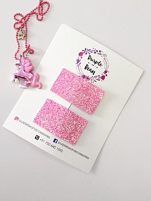 Oh Snap! Princess Pink - Glitter Snap Clips