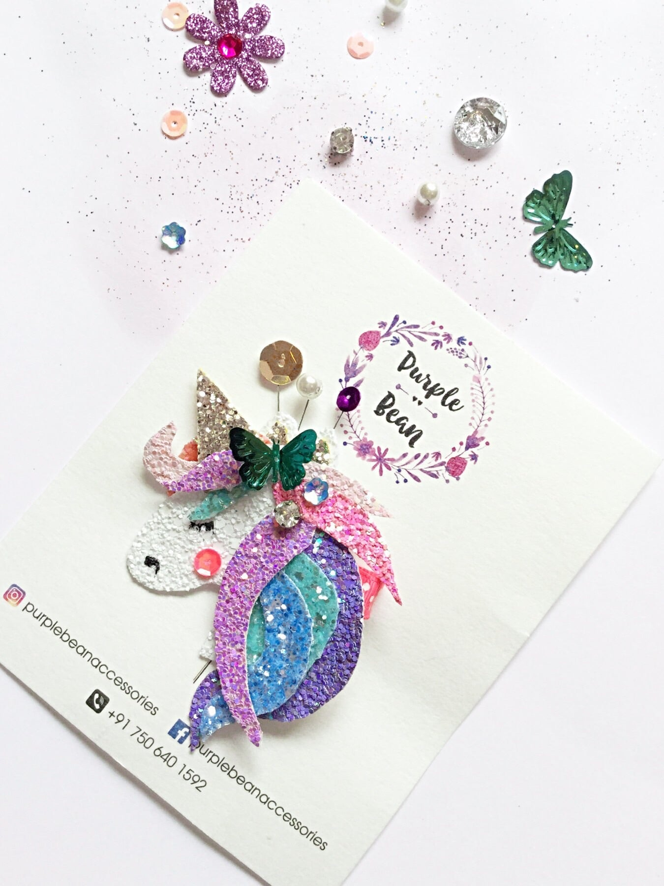 Magical Unicorn | Glitter Clip