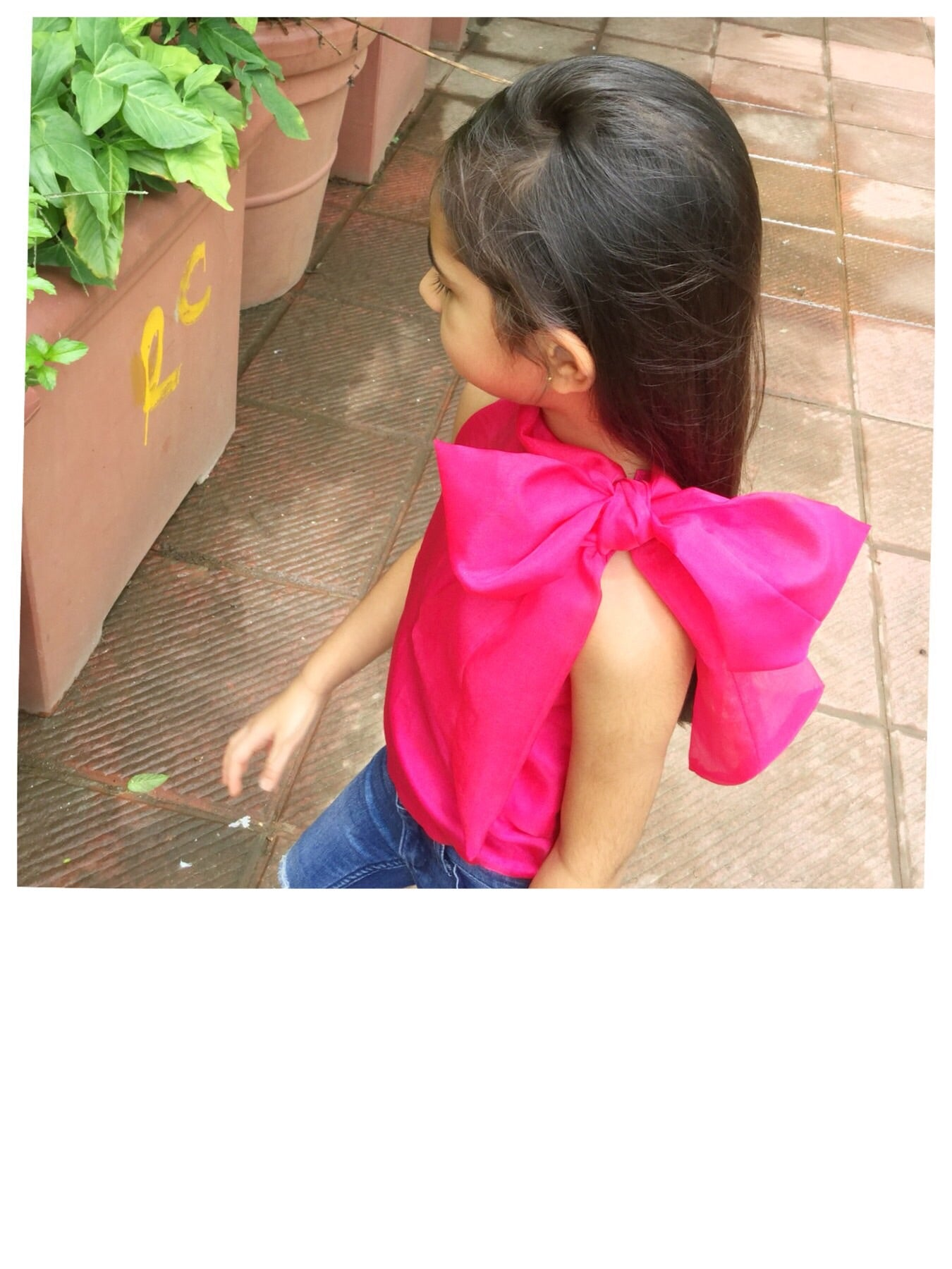 Organza Bow Blousein Pink