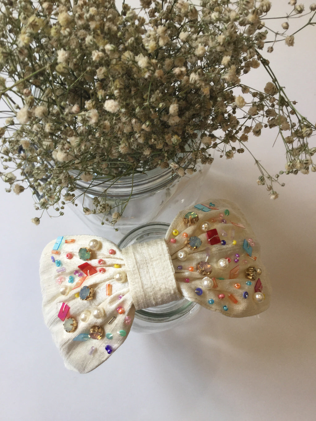 Headband Raw Silk | Confetti Cream