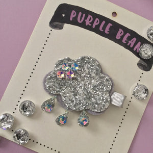 Glitter Cloud Hair Clip | Glitter Clip
