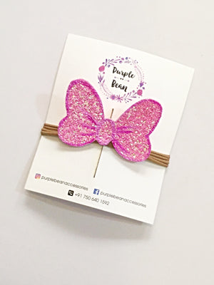Minnie Bow | Handmade & Hand painted Glitter Clip
