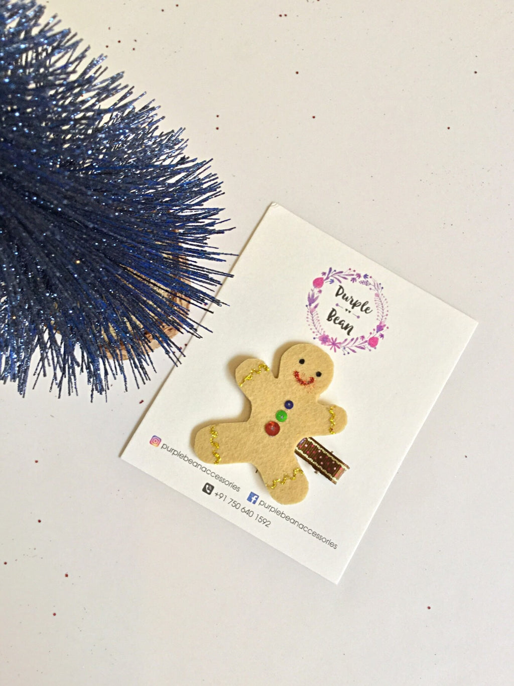 Gingerbread Man | Glitter Clip