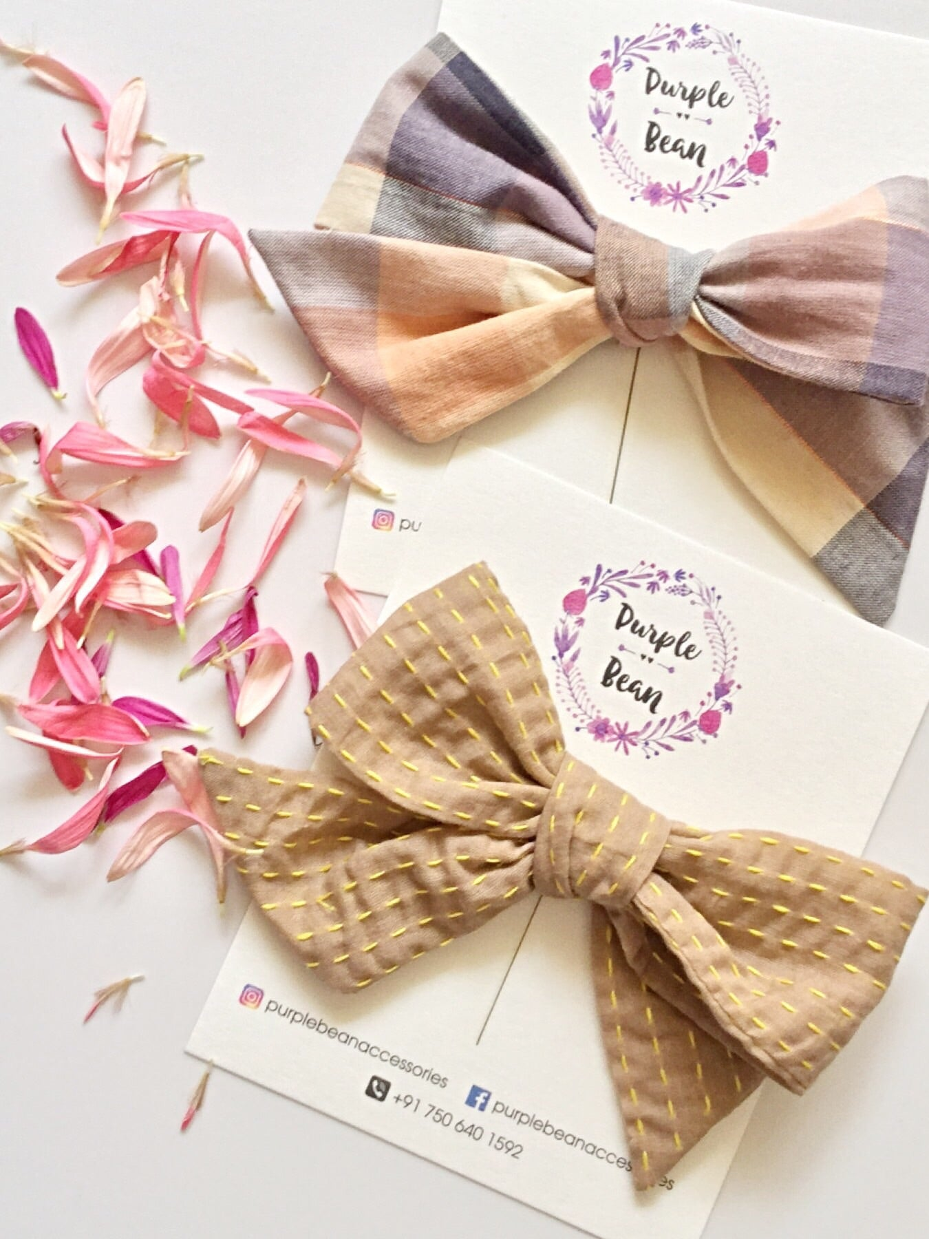 Tan | Hand-tied Bows