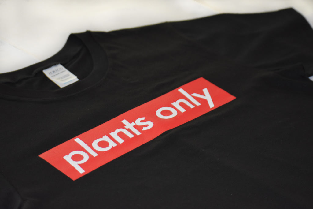 """plants only"" Black Shirt"