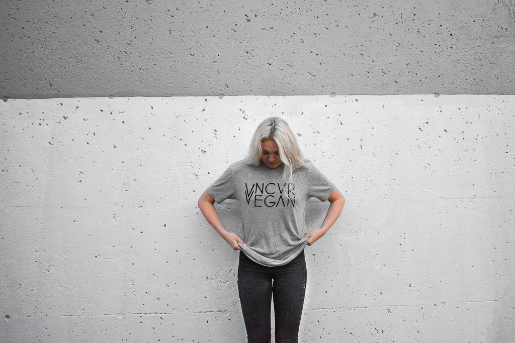 """VNCVR VEGAN"" Grey Shirt"
