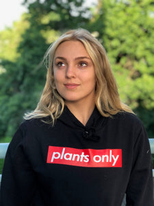 """plants only"" Black Pullover"