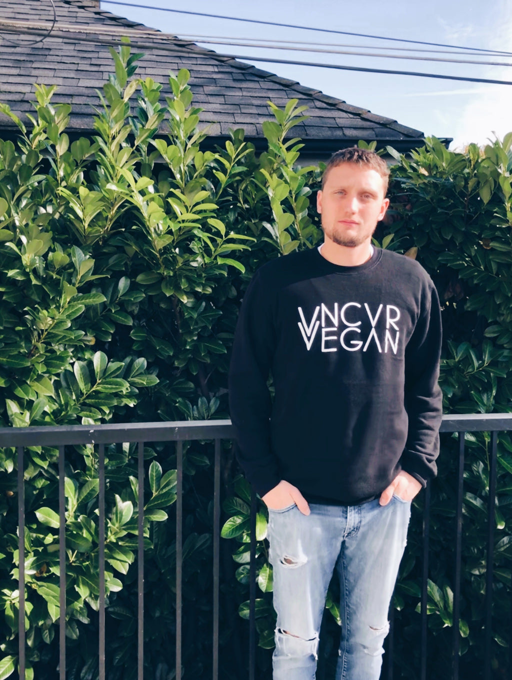 """VNCVR VEGAN"" Black Sweater (Organic Cotton/Rayon Bamboo)"
