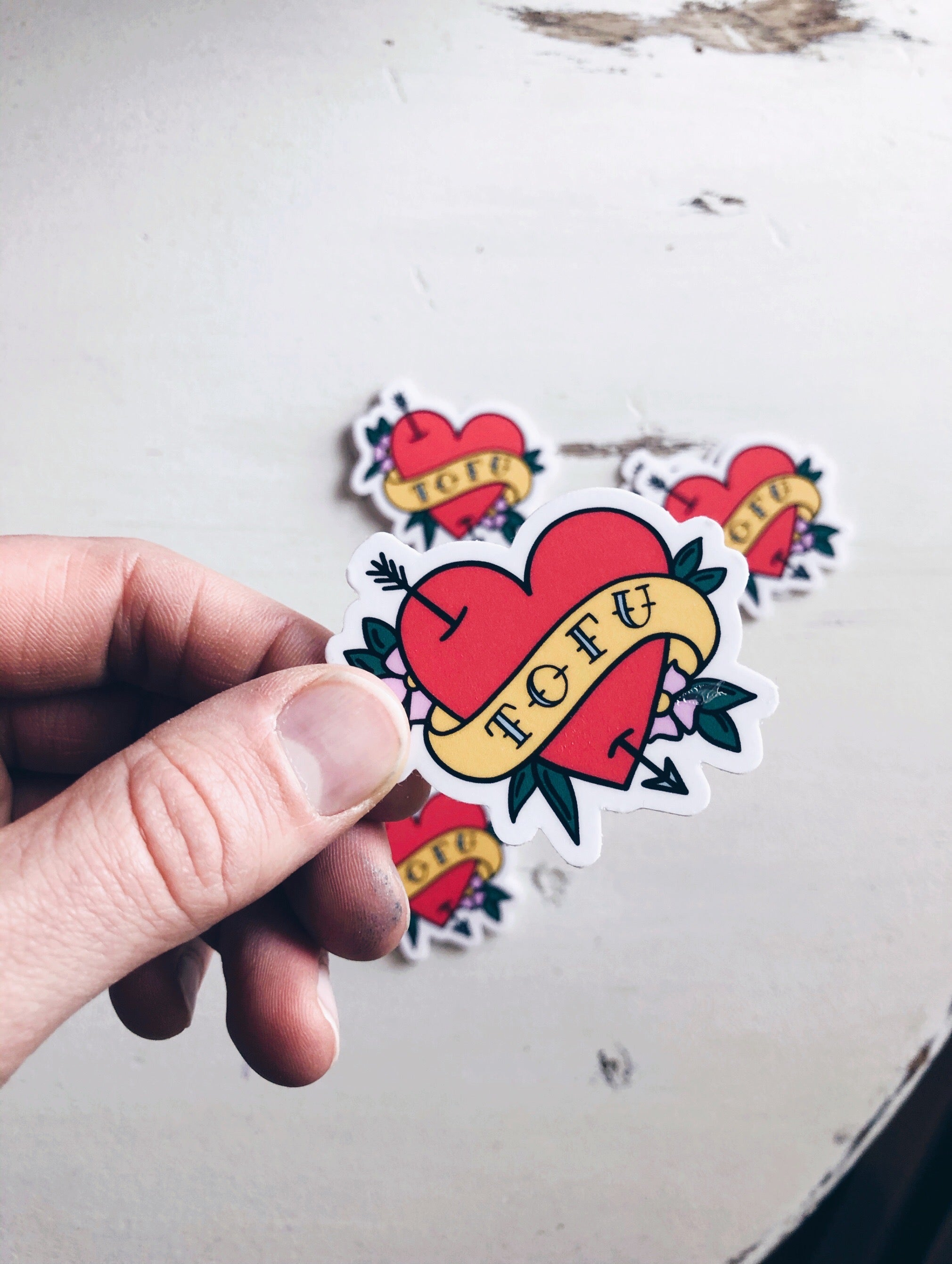 Tofu Heart - Sticker