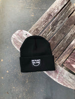 """Eat Plants Feel Good"" Black Toque"