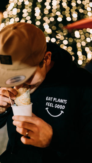 """Eat Plants Feel Good"" Pullover"