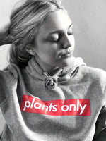 """plants only"" Grey Pullover"