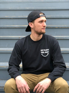 Eat Plants Feel Good - Black - Long Sleeve