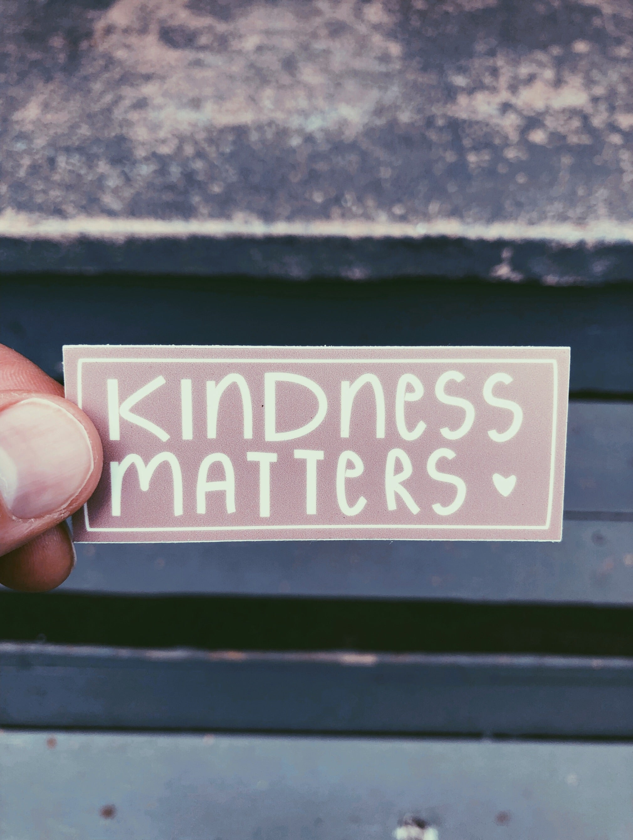 """Kindness Matters"" - Plum Sticker"