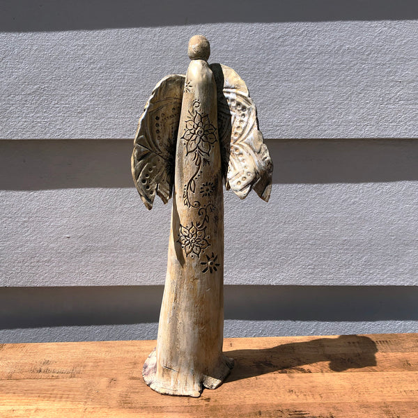 Hand Built Ceramic Angels - Local Only . Too Fragile to Ship