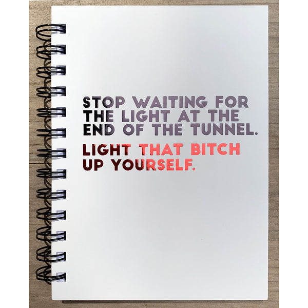 Light Up - Lined Hardback Journal