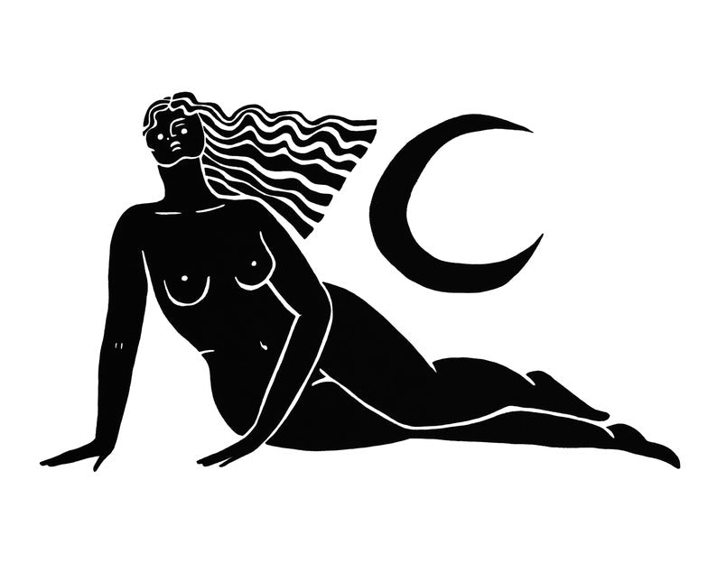 Black and White Greek Goddess Prints