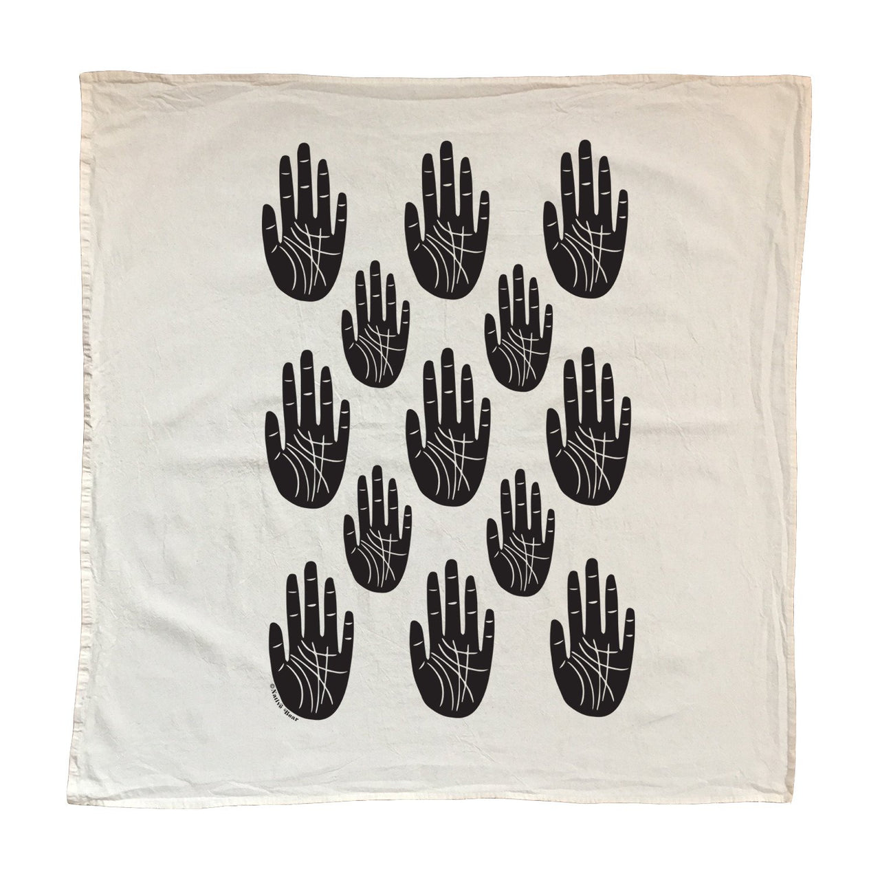 Cotton Hand Towels . Screen Printed
