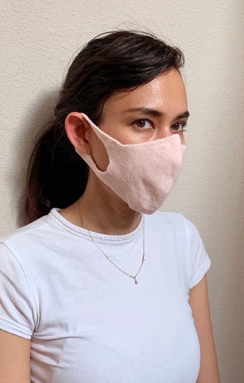 Cotton Blend Face Mask (one piece)  . Made in Japan