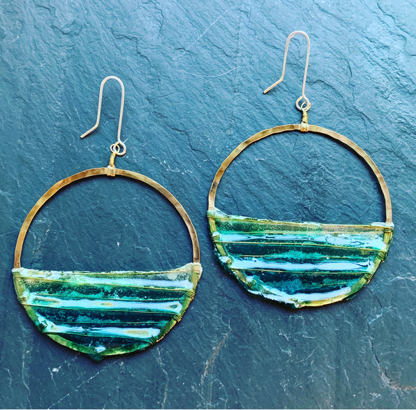 Large Sunrise Earrings