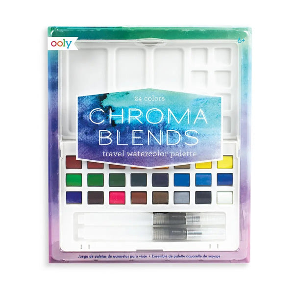 Chroma Blends Travel Watercolor Palette - 27 Piece Set