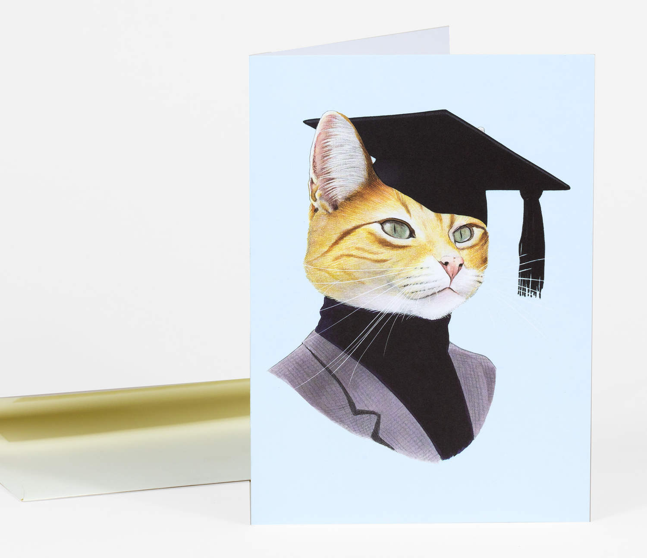 Berkley Illustration Graduation Cat Card