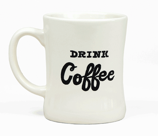 Drink Coffee / Drink Whiskey Mug - Free Local Delivery Only