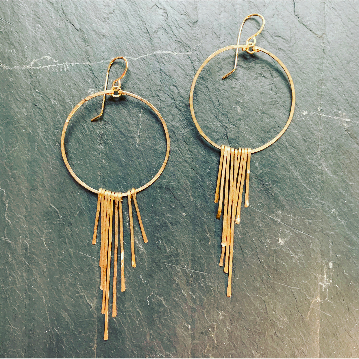 Gold Fill Fringe Hoops