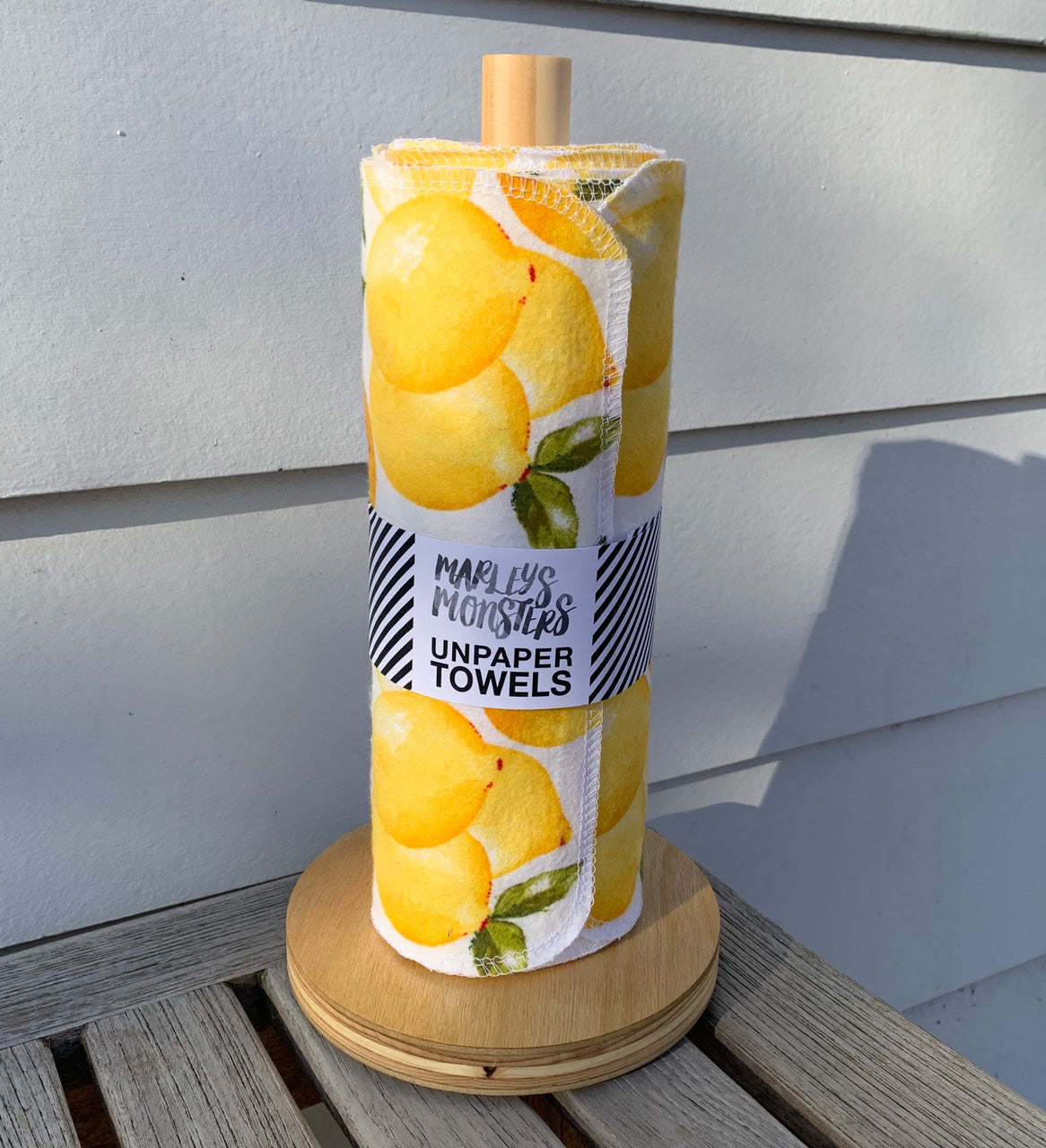 Unpaper Towels (24 with Wood Holder)