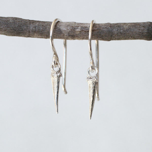 Reclaimed Sterling Silver Catbrier Thorn Earrings