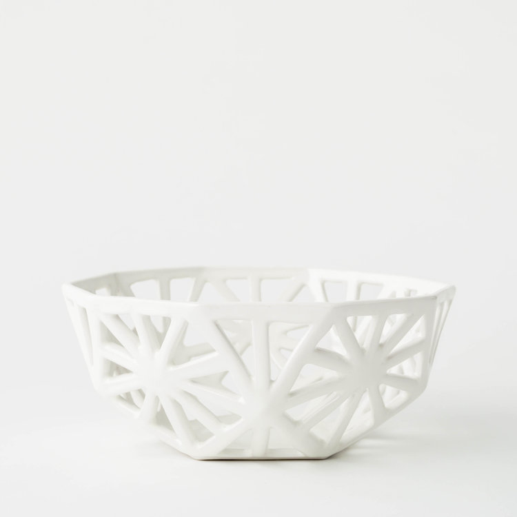 Ceramic Geodesic Fruit Bowl