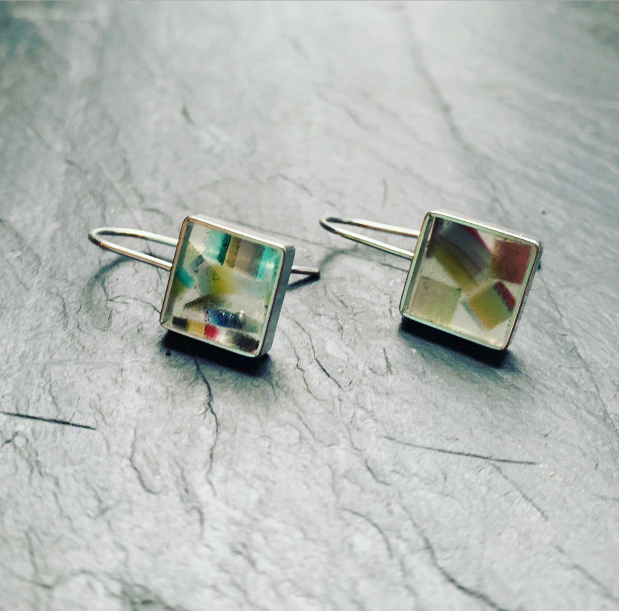 Square Confetti Resin Drops