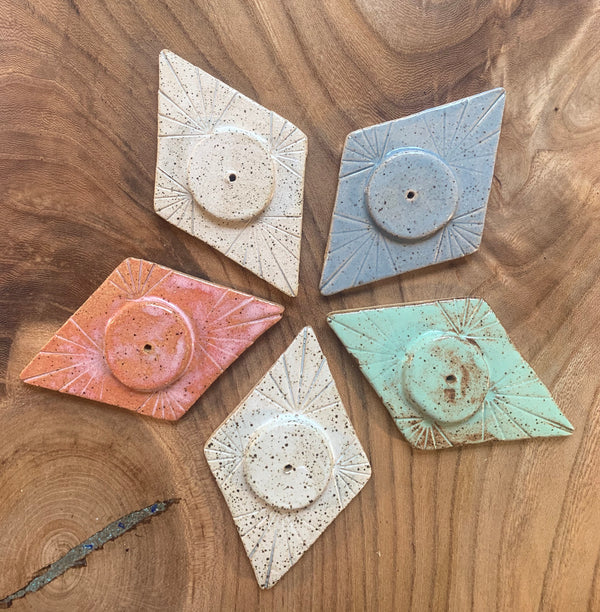 Ceramic Incense Holders . Variety of shapes and colors