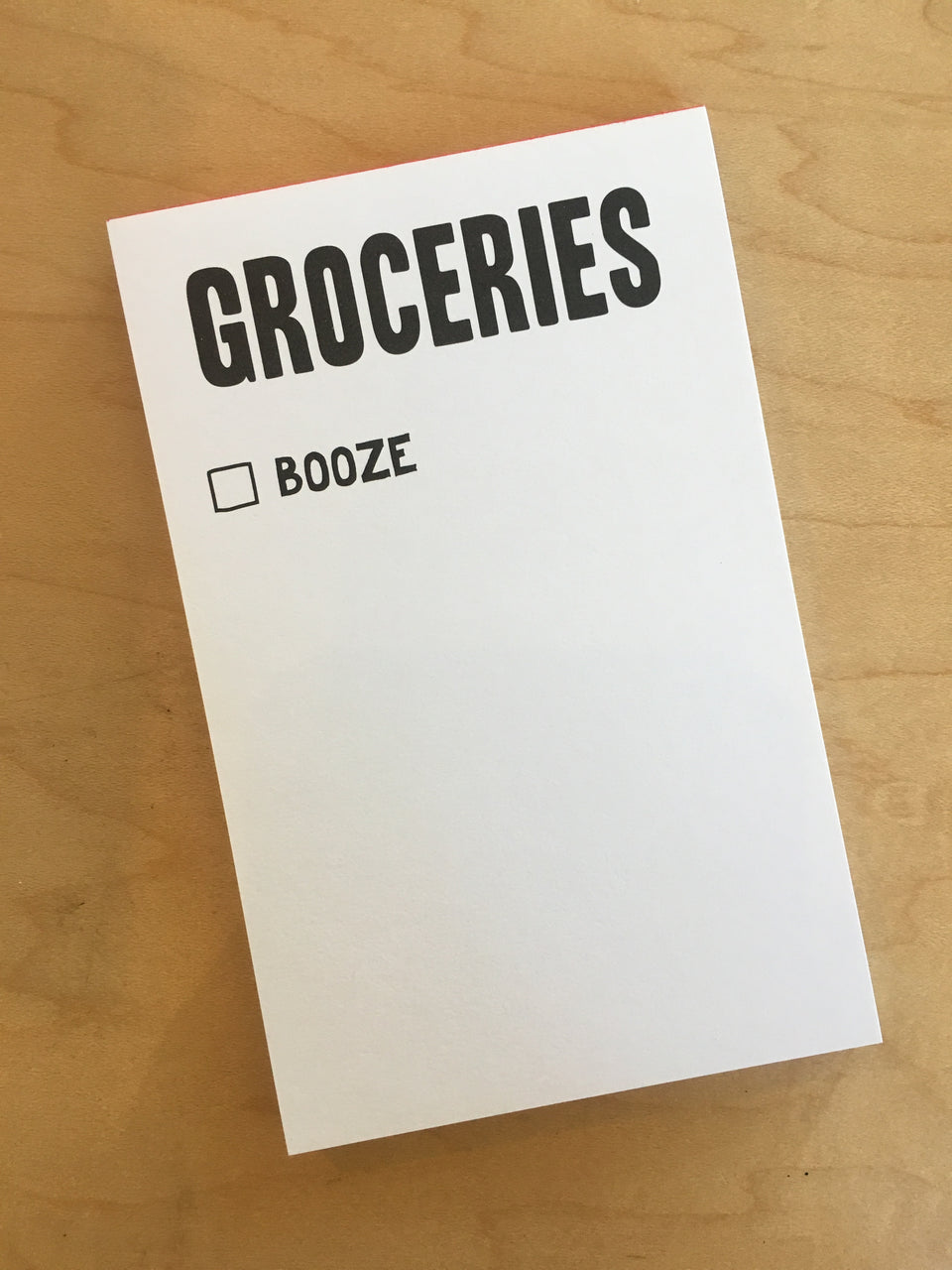 Groceries & Booze Notepad