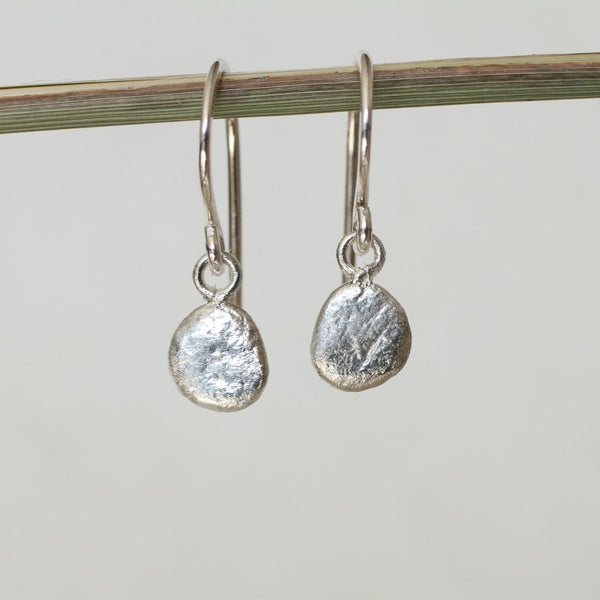 Reclaimed Sterling Silver Skipping Stone Earrings