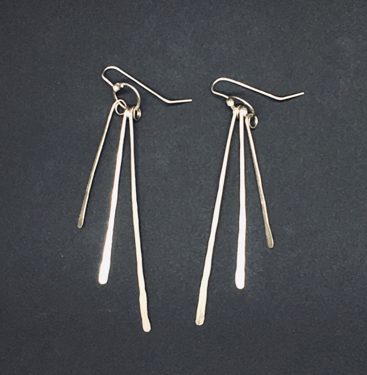 Sterling Silver Plume Earrings