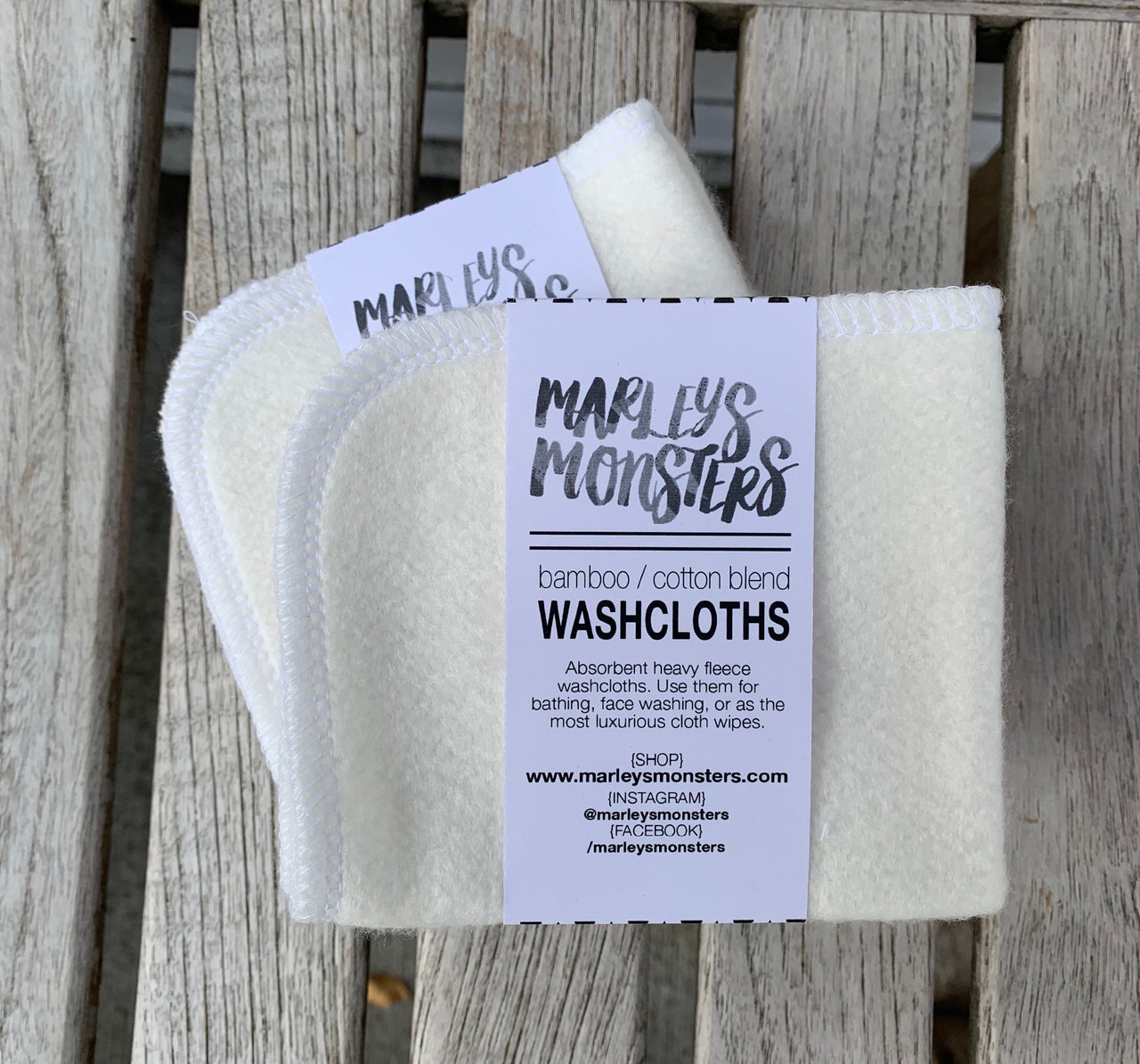Bamboo and Cotton Washcloths (Set of 4)