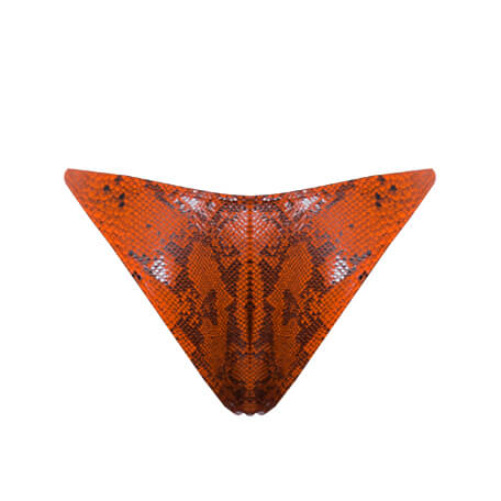 CROSS MY HEART ORANGE PYTHON BOTTOM