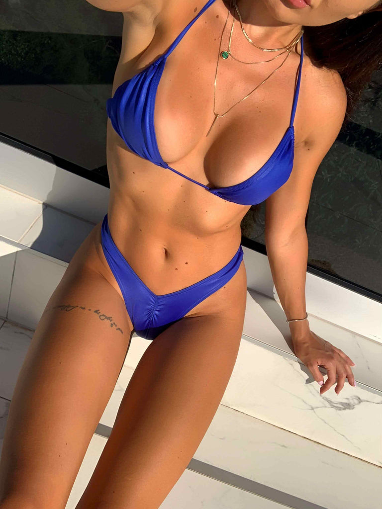 HARD IBIZA BLUE KINI TOP