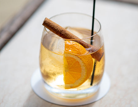 Coffee bourbon cocktail ready to be served