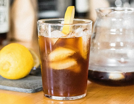 Mazagran Coffee with a pinch of lemon