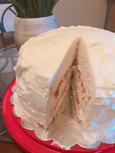 Fresh Strawberry Cake with Whipped Cream Icing (Coming Soon!)