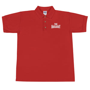 The Dugout Embroidered Red Polo
