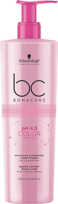 SCHWARZKOPF BC BONACURE PH4.5 COLOR FREEZE MICELLAR CLEANSING CONDITIONER 500ML