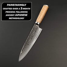 Load image into Gallery viewer, Masutas 330mm santoku damascus knife